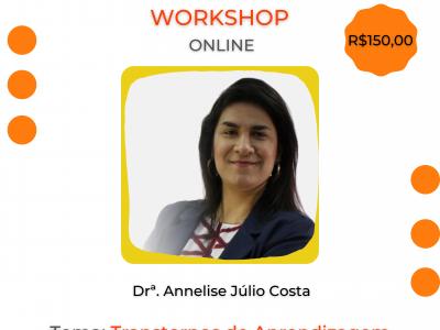 Workshop online – Transtornos de Aprendizagem